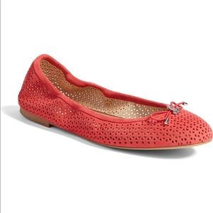 Sam Edelman Ballet Flats Felicia 2 Perforated Red